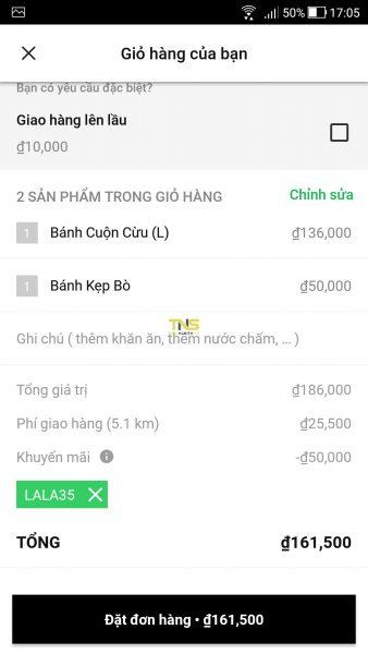 Screenshot 20180408 170552 338x600 - Dùng thử dịch vụ đặt đồ ăn LaLa: Food Delivery