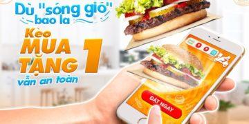 Khuyến mãi mua 1 tặng 1 Burger King