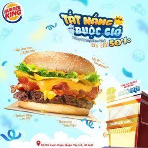 khuyến mãi 50% burger king hà nội
