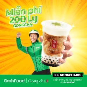 khuyến mãi miễn phí gongcha grabfood
